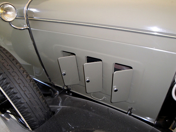 """The little """"doors"""" on the side of this Model A of Doug Wilson's is a rare accessory."""